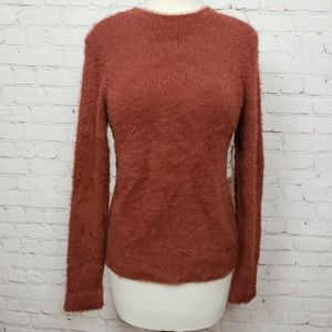 Free Press Faux Fur Fluffy Pullover In Brown Spice